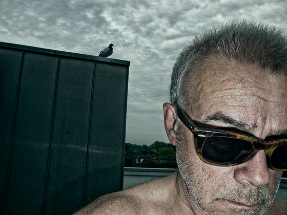 selfportrait with pigeon