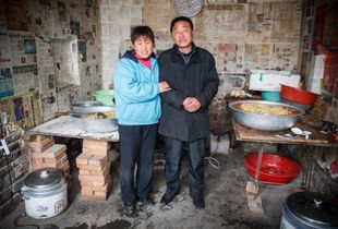 Couple with Noodles