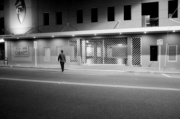 Alone at night