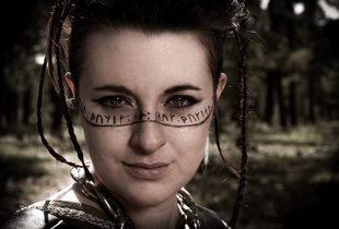 Shield Maiden With Rune Poem