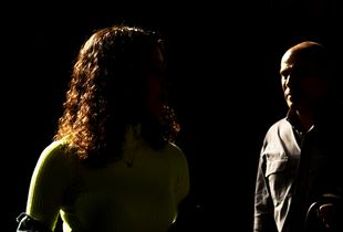 Two strangers in the dark