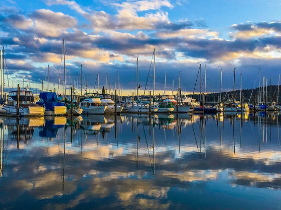 Reflective clouds Marina
