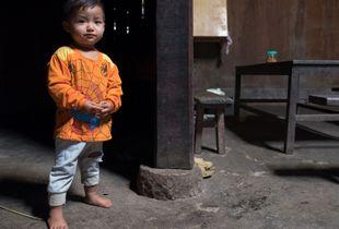 Portrait of a Black Hmong boy.