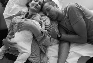 Alexia, Theo and Isa in their home in Cape Town, South Africa