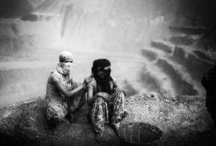 Coal mining women in Jharia.