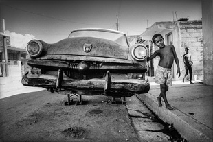 Boy and Car