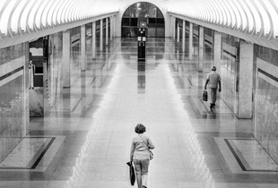 The woman in the Moscow underground.