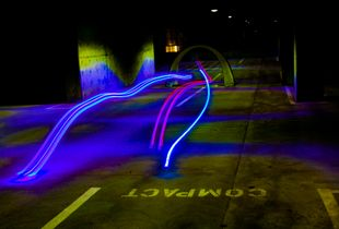 Drone Racing at a Parking Garage in San Francisco 2017
