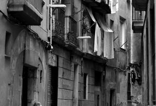 Old Lady in Old Town of Barcelona
