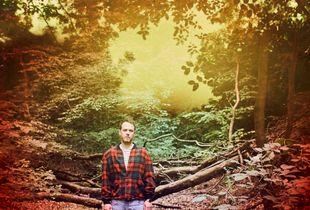 Jonathan Krisp in the woods