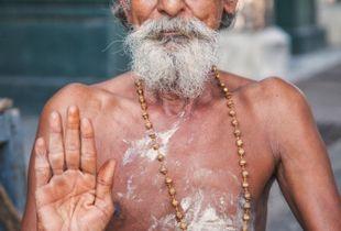 Abhaya Mudra; Pondicherry, India