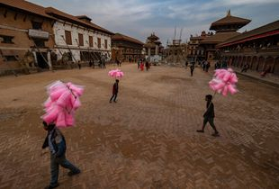 Bhaktapur candy cotton vendors