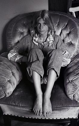 Girl with crutches, circa. 1974/75