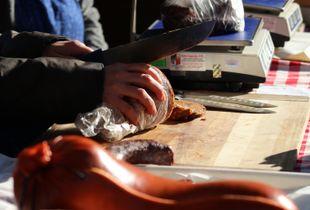 Slicing Sausage