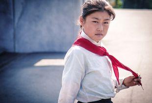 School girl in Pyongyang - North Korea