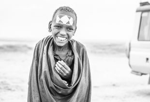 Maasai Boy in the Serengeti. 2018.