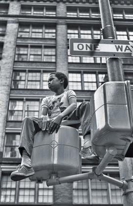 Bicentennial Day, NYC (Boy Watching Parade)