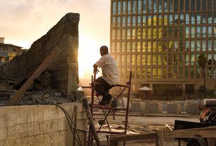 Cuban worker taking a rest