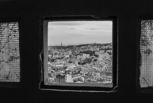 View from the broken window