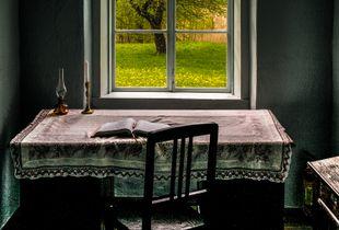 Idyllic Home Scene with Outlook