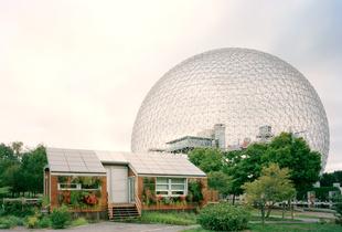 """Montréal 1967 World's Fair, """"Man and His World,"""" Buckminster Fuller's Geodesic Dome With Solar Experimental House"""