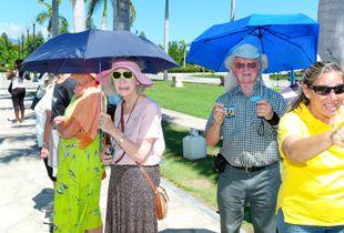 US tourists in Santiago de Cuba