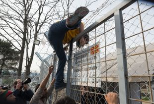 Jumping the fence to Macedonia