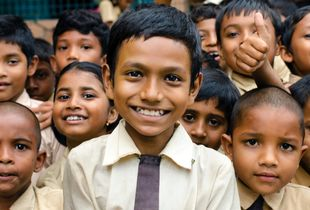 Indian smiles: the country's soul and hope.