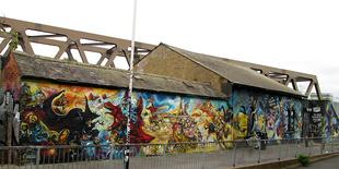 The Terry Pratchett, Josh Kirby tribute mural.