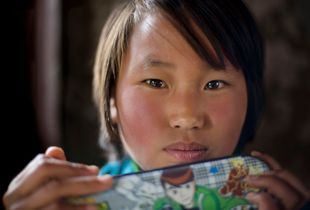 girl with pencil box