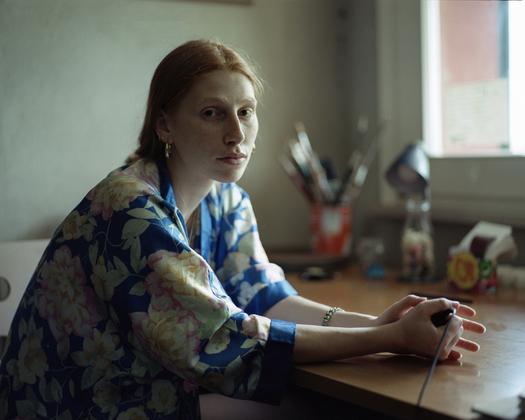 Adele in her studio