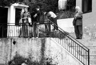 Men at Rest Stop - Albania