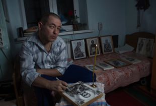 The blind icon painter