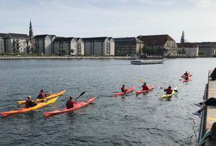 Kayaks in the harbour of Copenhagen