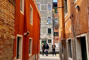 Colors of magical Venice 01.  Young men.
