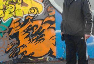 Tattoo art faces street art.