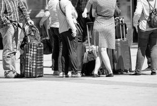 waiting tourists