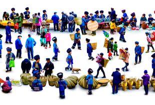 Miao ethnic market
