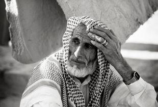 Syrian refugee in camp near Jeeza, Jordan