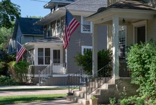 Gray with Porch and Posts