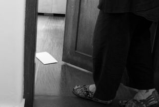 A letter at the door