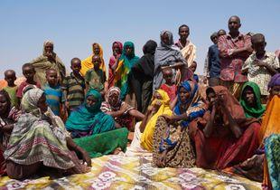 Emergency meeting, Korile IDP Camp, Somali Region,  Ethiopia. 2017
