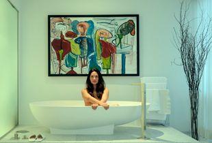 Claudine in her Bathroom