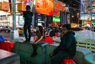 Street scene in Manhattan. Times Square, NYC