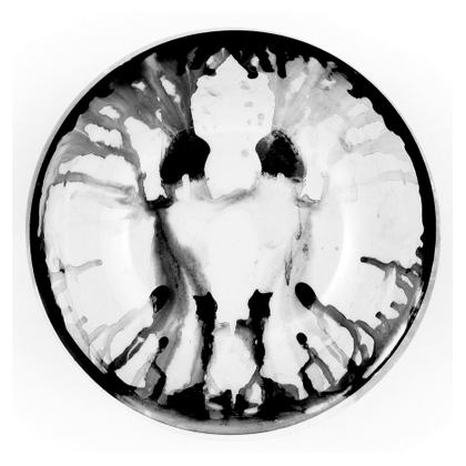 Plate with ink