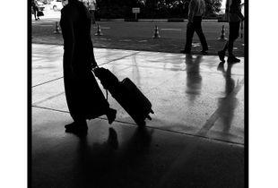 Shadow of traveler