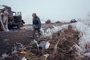 Battle for Debaltseve, East Ukraine, February 2015.