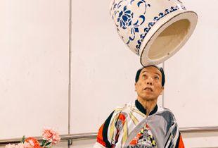 北京道的街头艺人