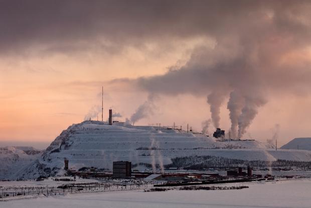 Nightfall at Mount Kiruna, Sweden