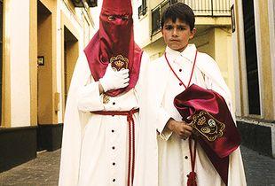 Young pilgrims at the Semana Santa, Andalusia